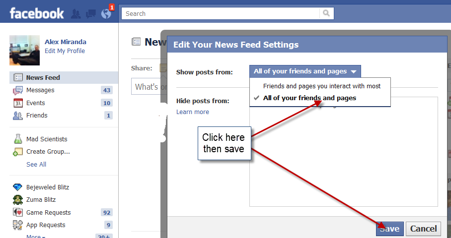Facebook Privacy3 FACEBOOK And Why You May Not Be Getting Responses And Posts From Friends