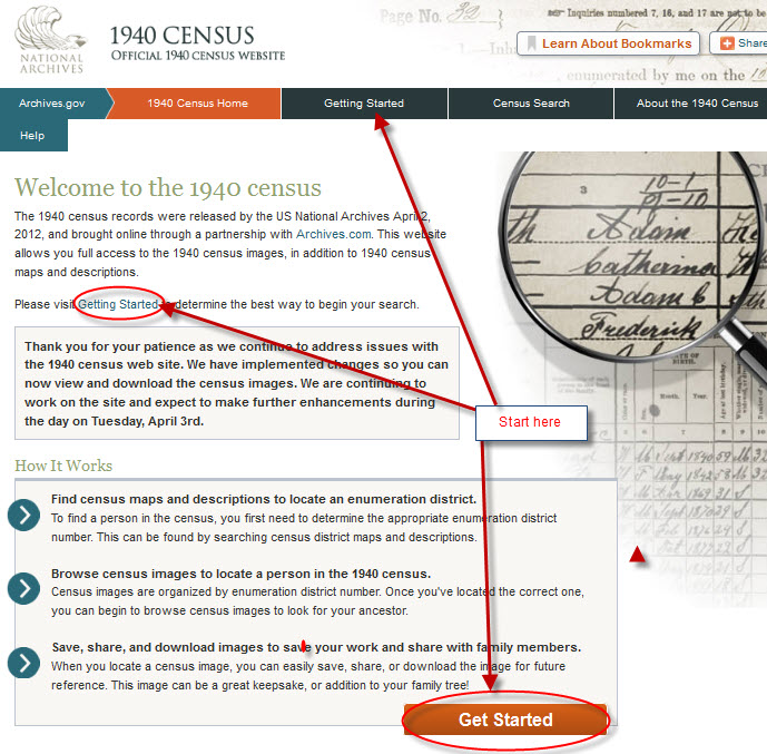 census2 Move Over Google, How To Use The 1940 Census Bureau Website