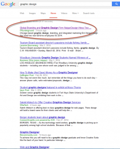 graphic design google news