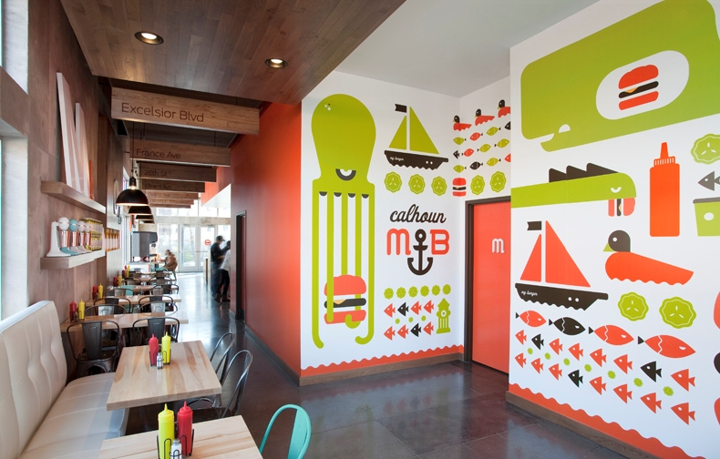 Bpgraphics expands client brands with wall covering - Graphic design for interior designers ...