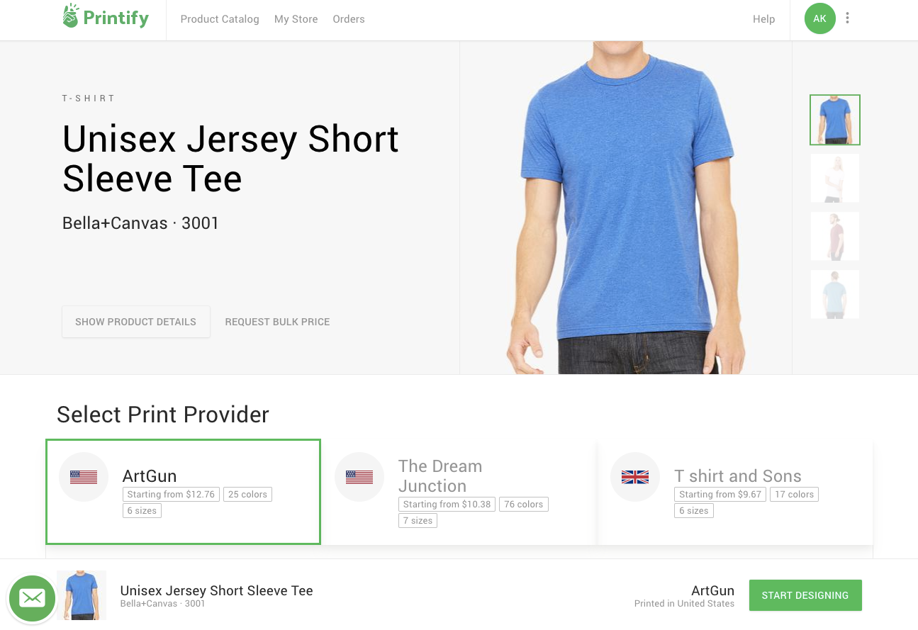 Printify's print on demand platform lets WordPress users sell shirts