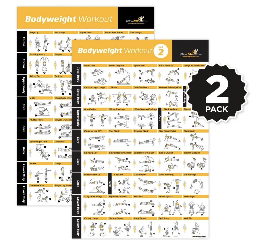 NewMe Fitness Offers Bodyweight Exercise Posters Volumes 1 and 2 Now