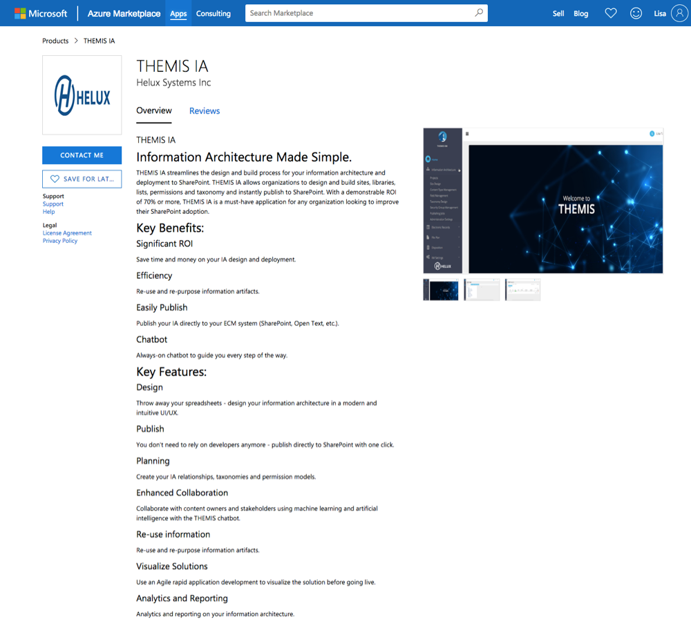 themis now available in the microsoft azure marketplace press
