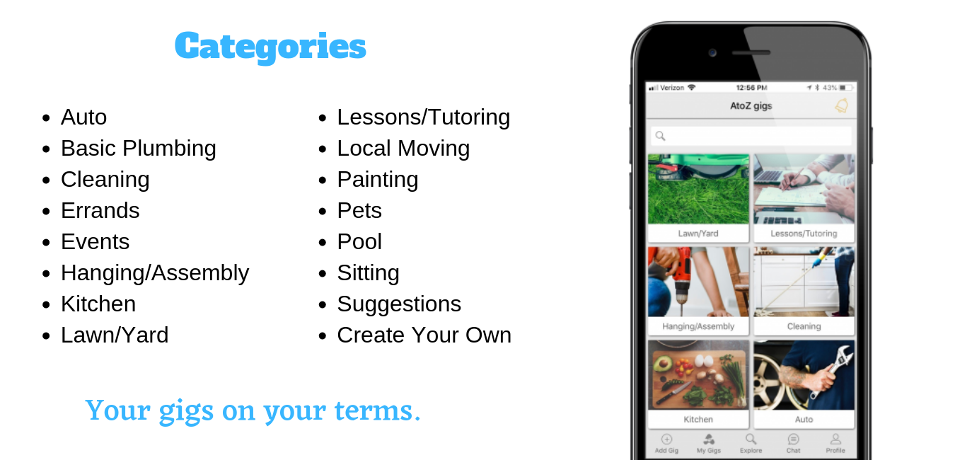 New Startup, AtoZgigs, Launches Mobile App in Phoenix to Get